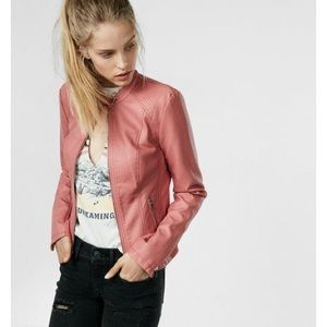Express Faux Leather Double Peplum Jacket